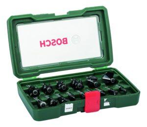 Bosch Fräser-Set-HM (Ø 8 mm, 15-teilig)