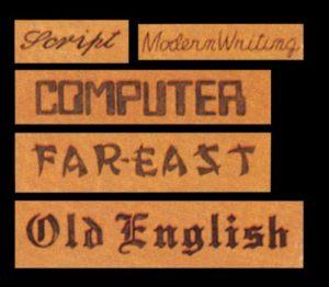 Diverse Schriftarten sind mit einem Pantograph möglich
